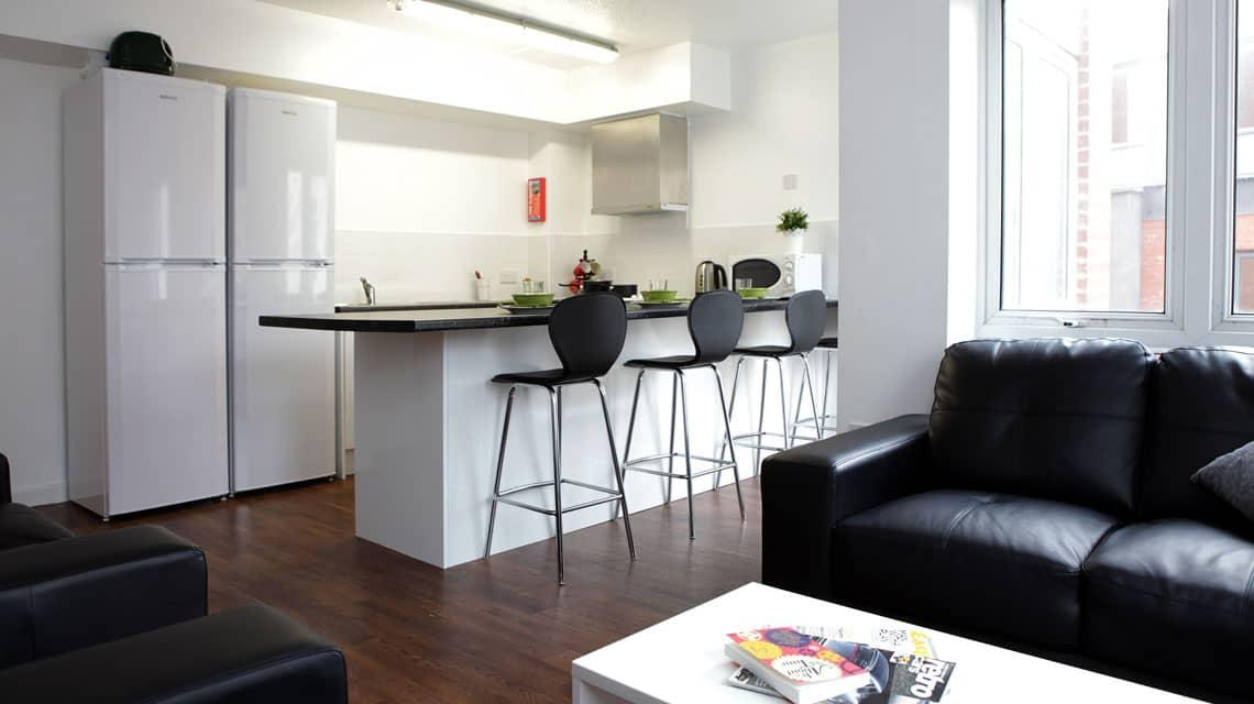 kitchen and dining area at Moor Lane Halls
