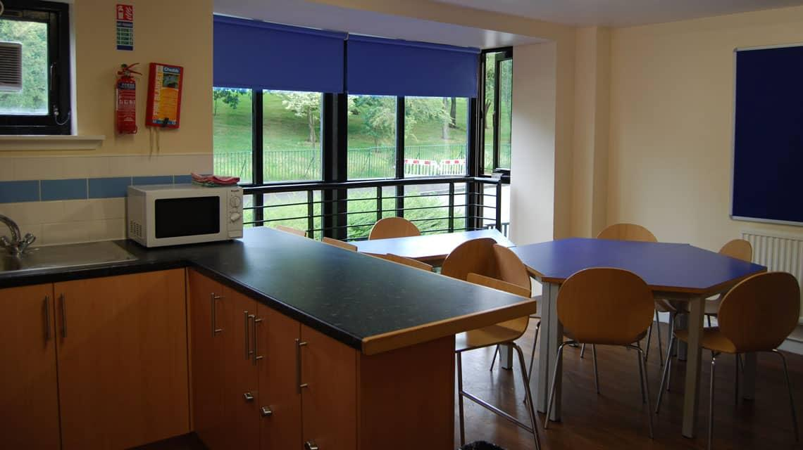 example shared kitchen and dining area at Murano Street Student Village