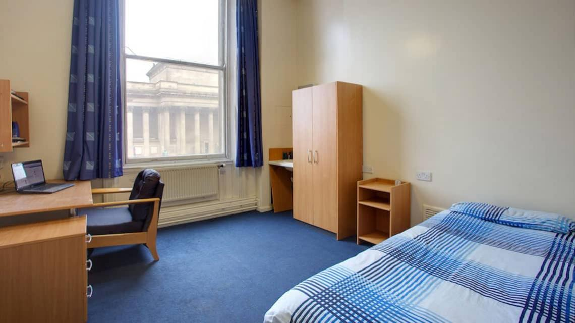typical bedroom at North Western Halls