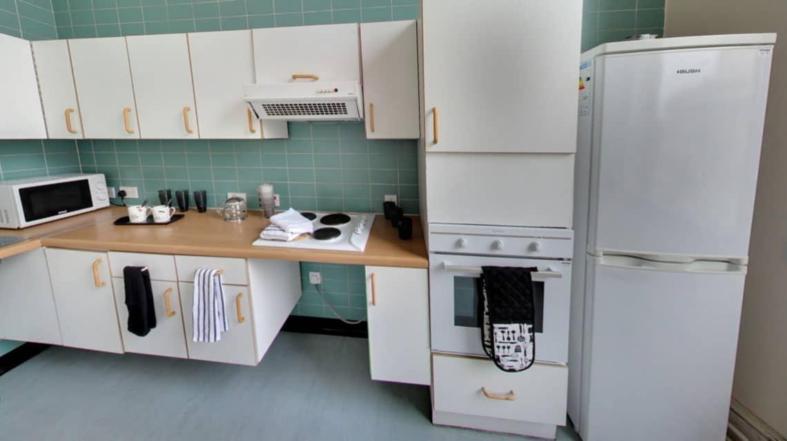 shared kitchen at North Western Halls