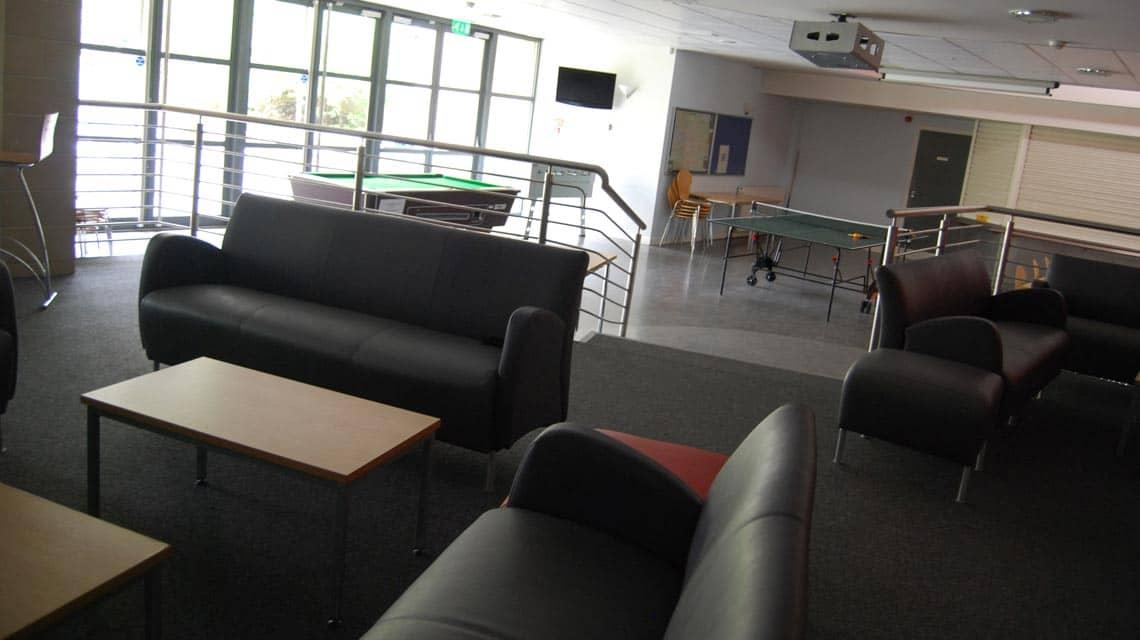 Queen Margaret Residences lounge and games area