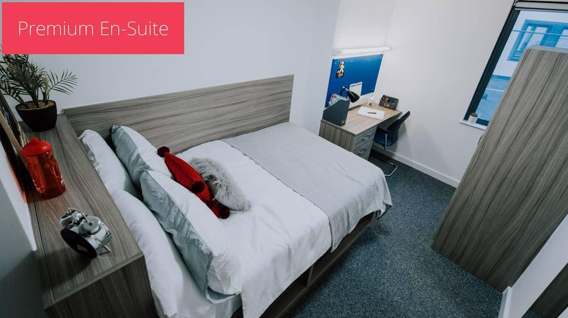An example of a Premium En-suite bedroom at Grafton Street.