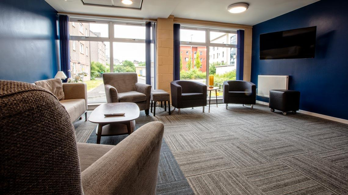 Shared common room at Seabraes Flats 1 in Dundee