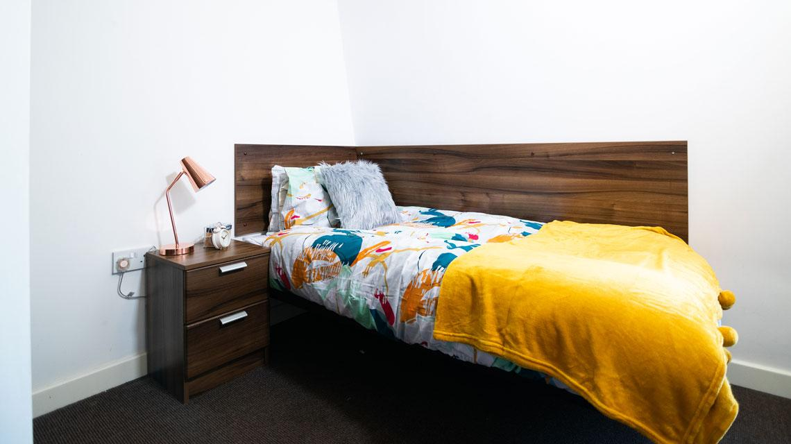 Example bedroom at The Craft Building