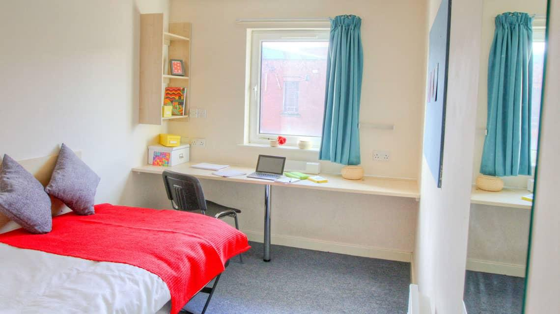 An example single bedroom at Tramways