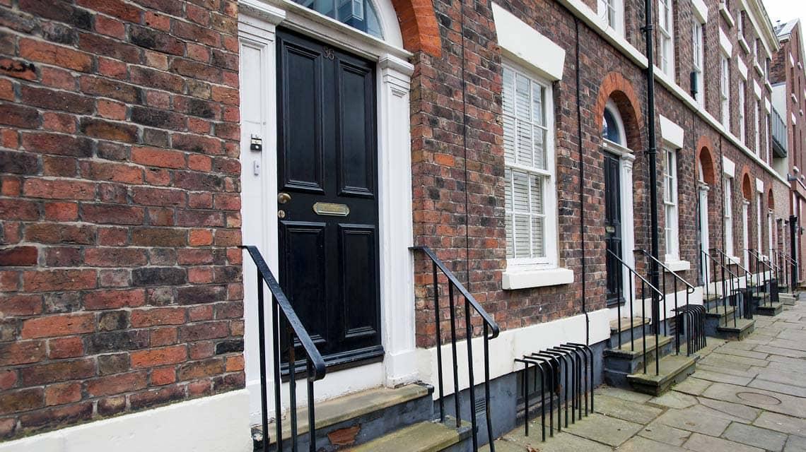 exterior doorways of Upper Hope Place