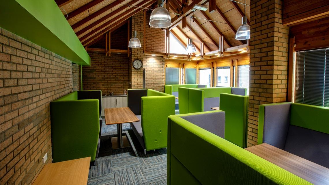 Communal study room at West Park Villas in Dundee
