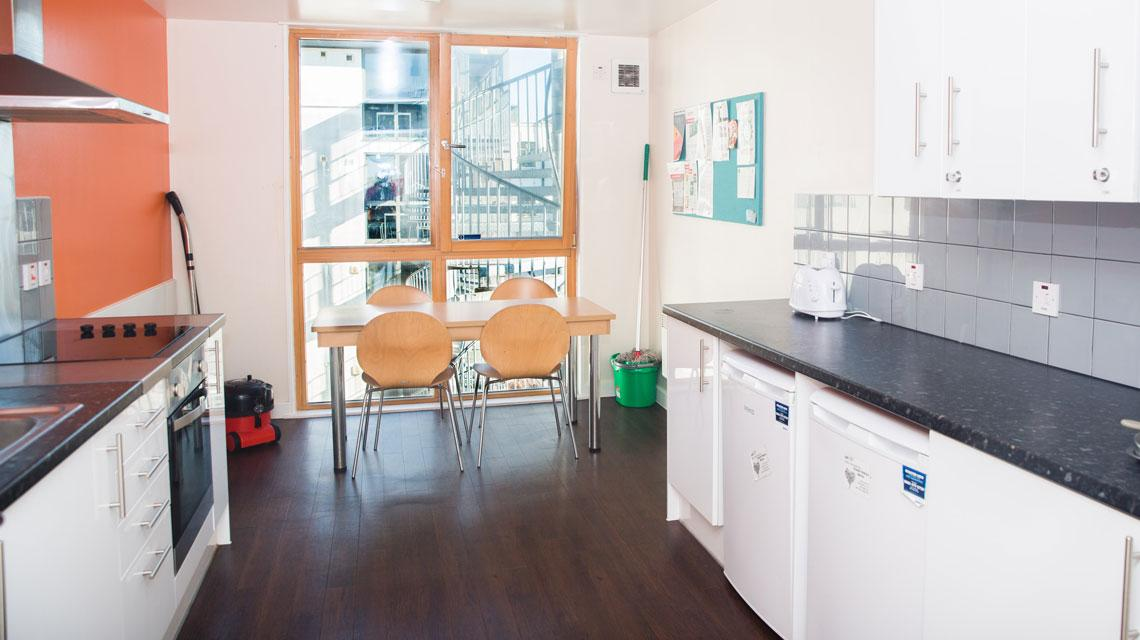 Example shared kitchen at Don Gratton House
