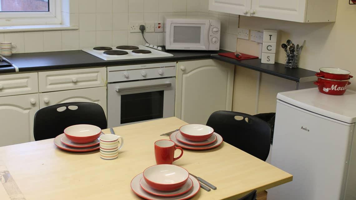 Example kitchen at Grange Court & The Ridings