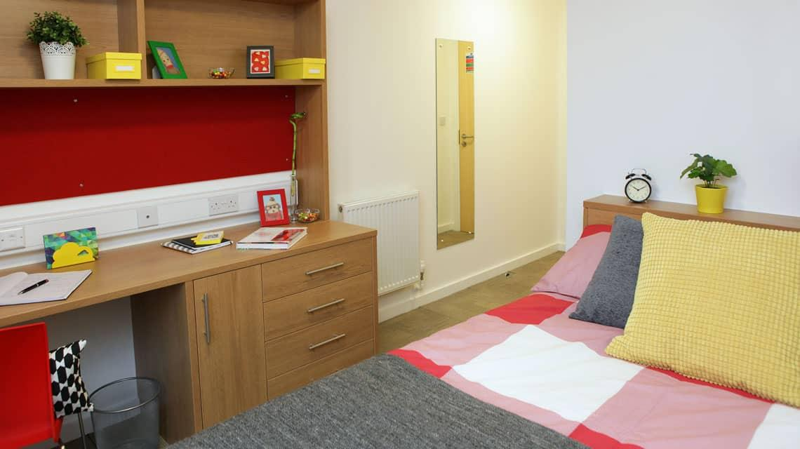 example of a bedroom at Grenville Street