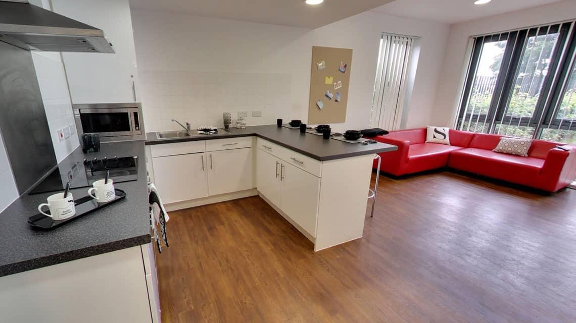 Shared lounge and kitchen at Grenville Street