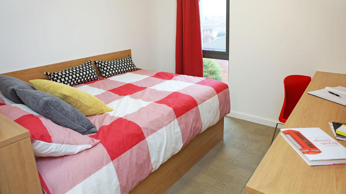 Example bedroom at Grenville Street