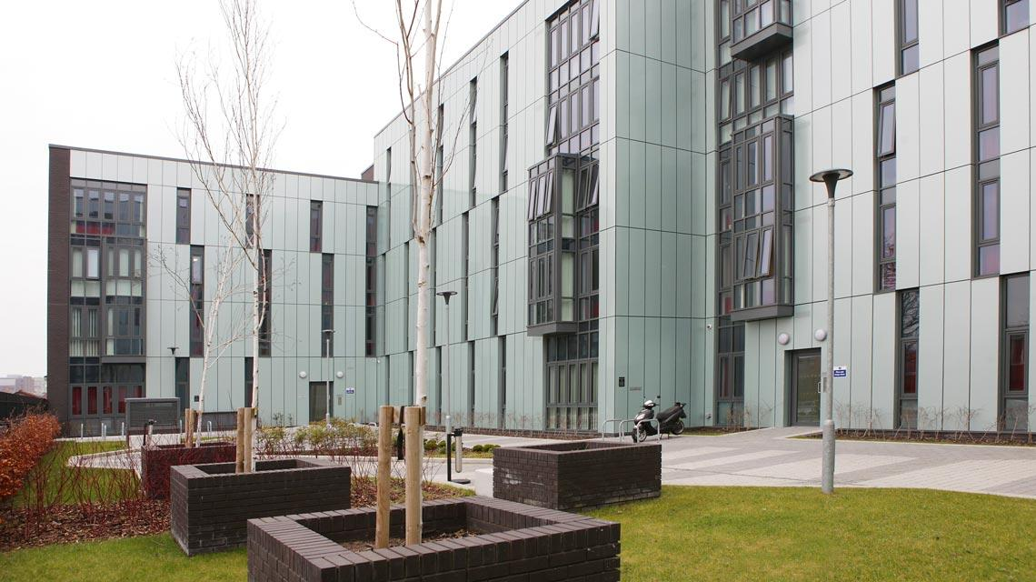 Rear exterior and communal garden at Grenville Street