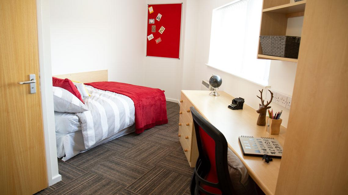 Example bedroom from Marybone Student Village