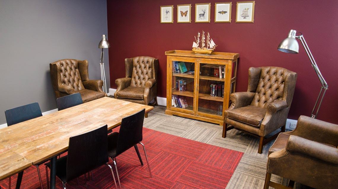 Communal study area at Marybone Student Village