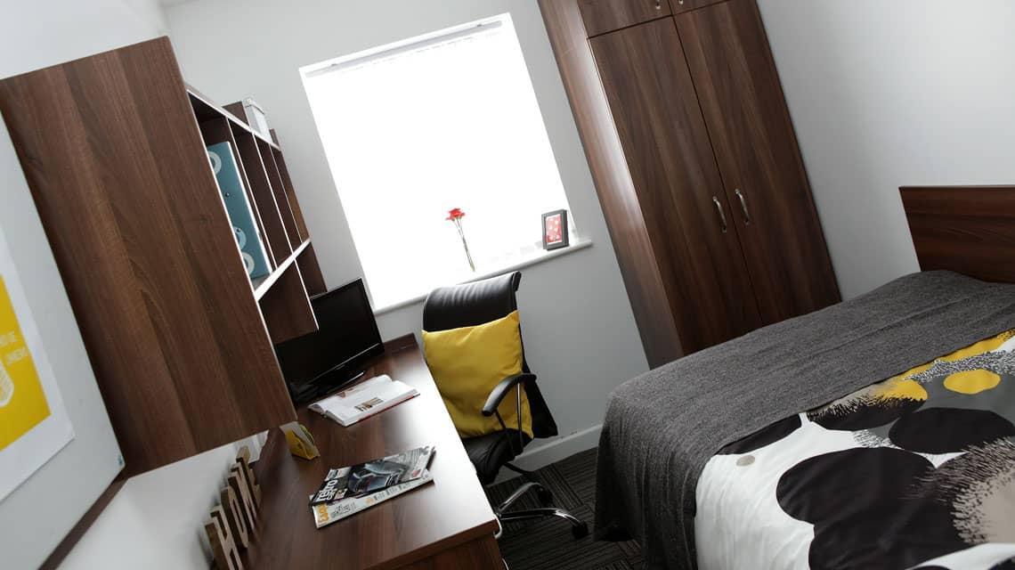 example double bedroom at Moor Lane Halls