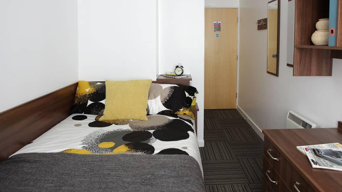 Typical double bedroom at Moor Lane Halls