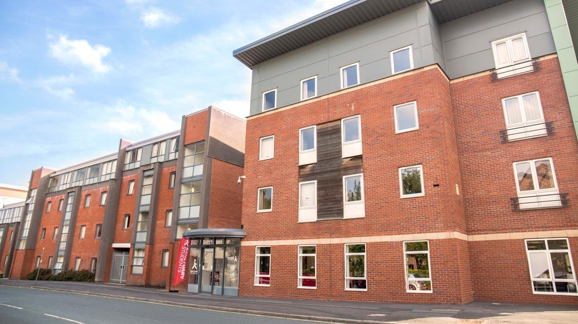 Front exterior of Moor Lane Halls