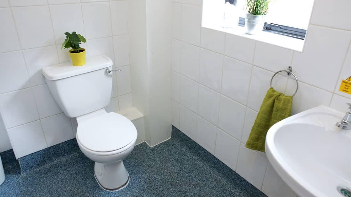typical bathroom at Moor Lane Halls