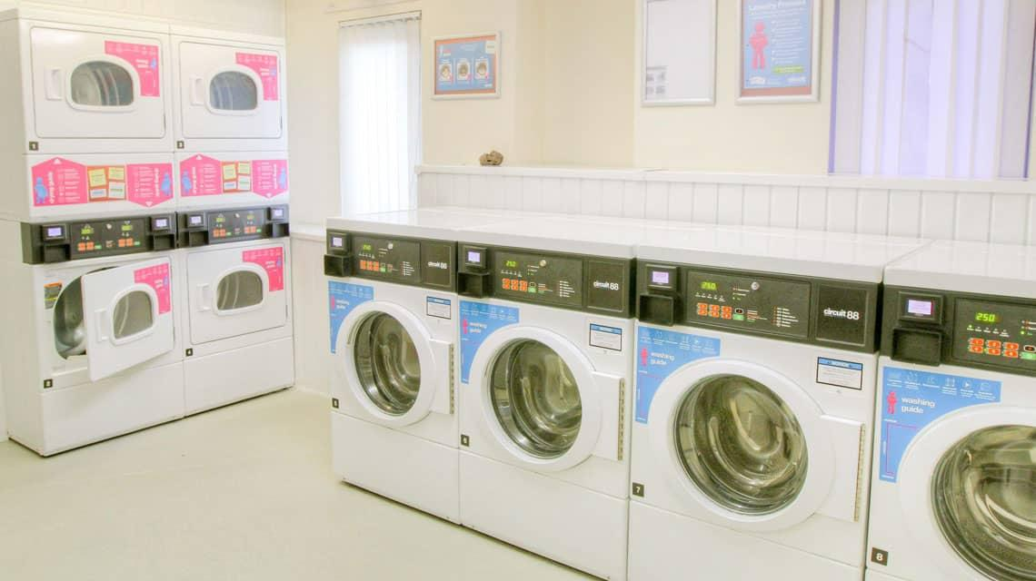A laundry room at Tramways
