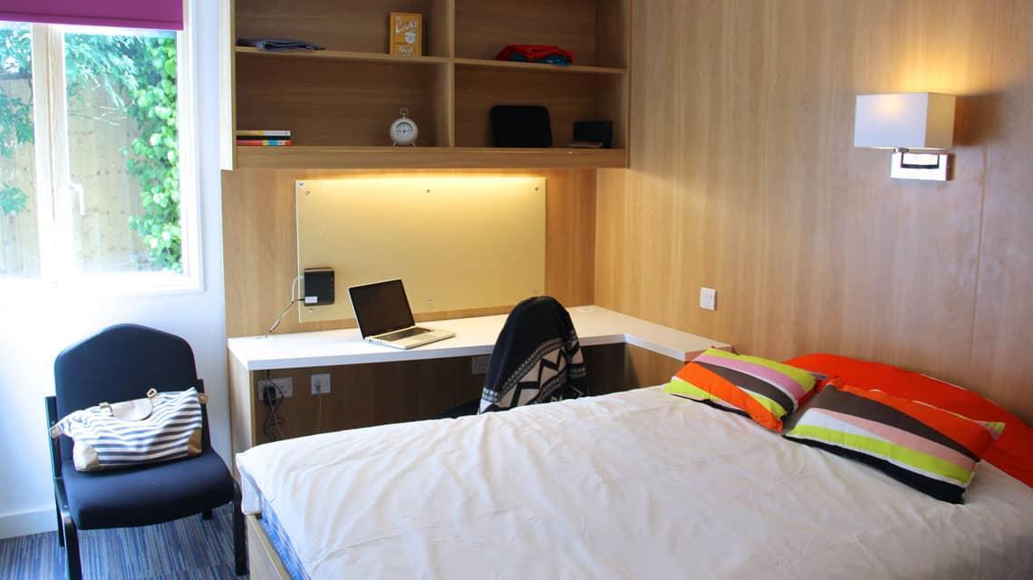 An example bedroom at Treliske, Truro