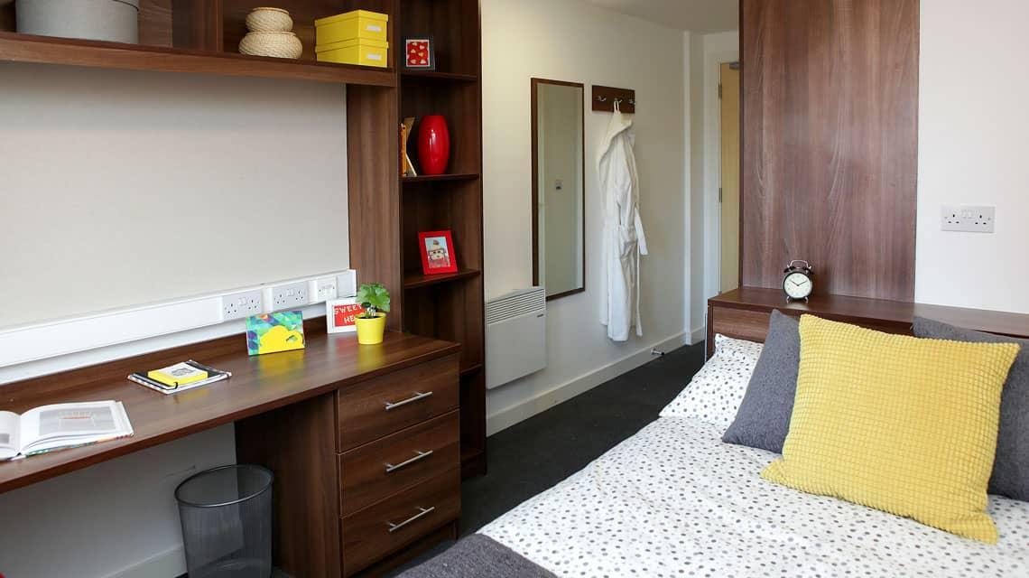Typical bedroom at Walker Street, Preston
