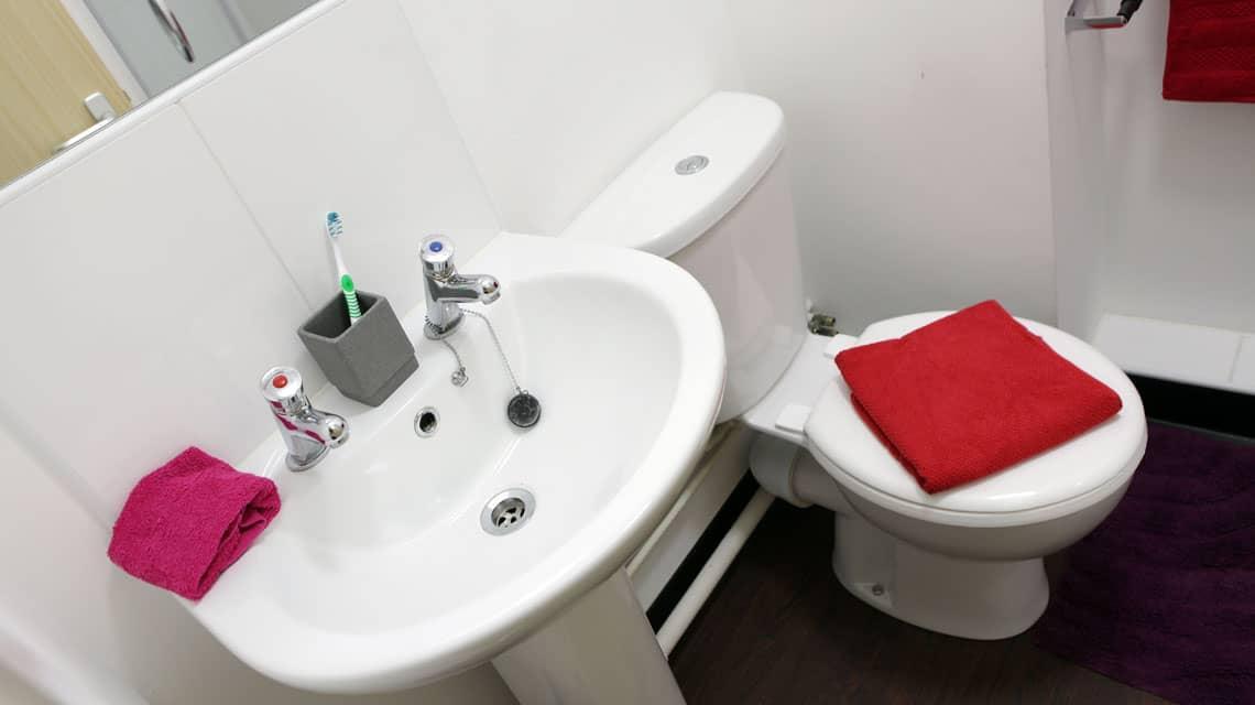 typical en-suite bathroom at Walker Street
