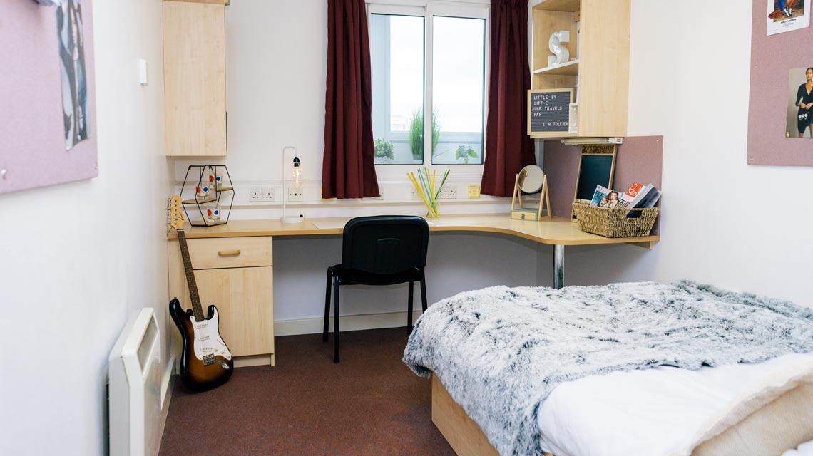 Example bedroom at Wardley House