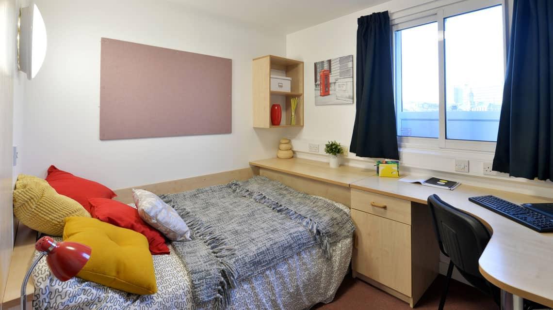 example bedroom at Wardley House, Bradford