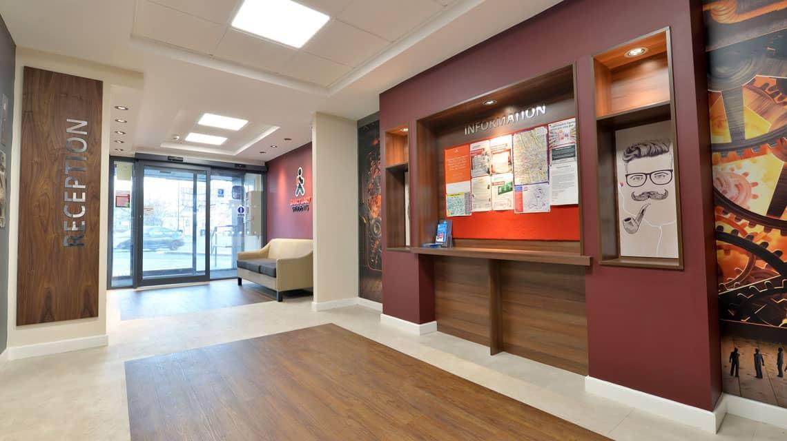 Reception area at Wardley House, Bradford