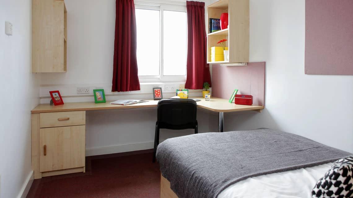 typical bedroom at Wardley House, Bradford