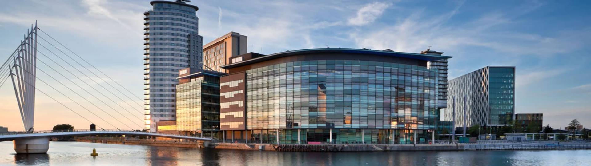 wide image of Salford Quays