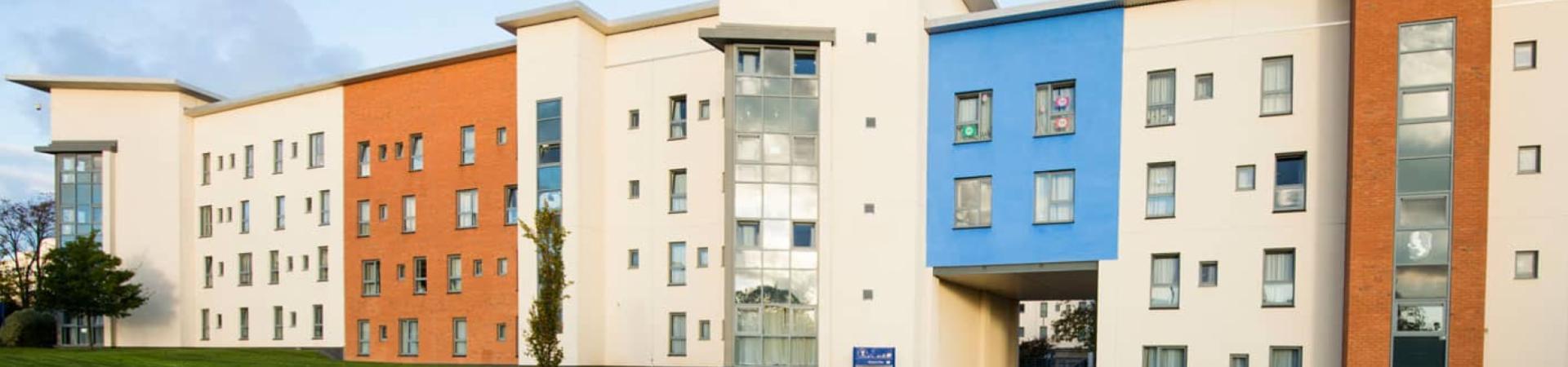 external banner of Belmont and Heathfield Flats, Dundee