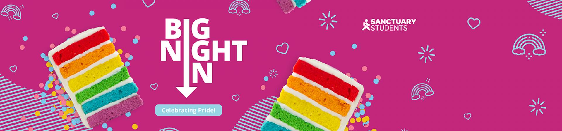 Big Night In: celebrating Pride banner