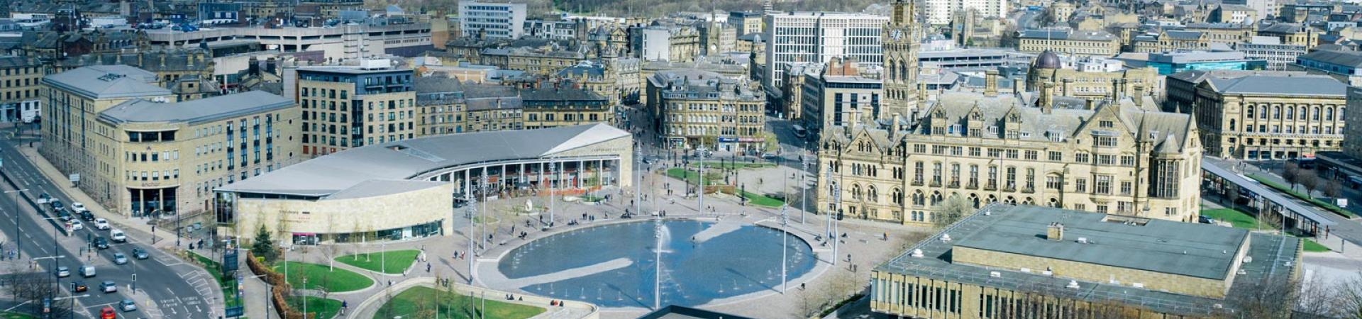 Aerial view from our Student Accommodation in Bradford