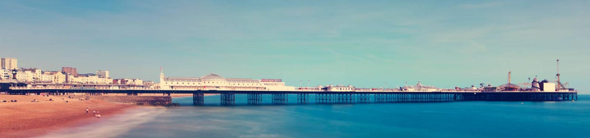 external shot of Brighton beach and pier