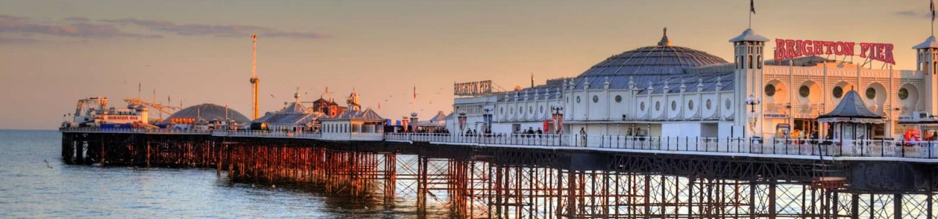 Brighton pier banner