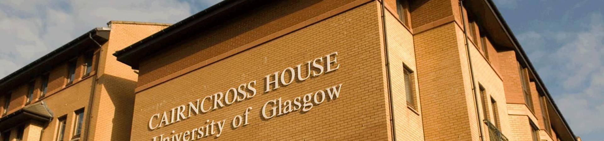 external banner for Cairncross House, Glasgow