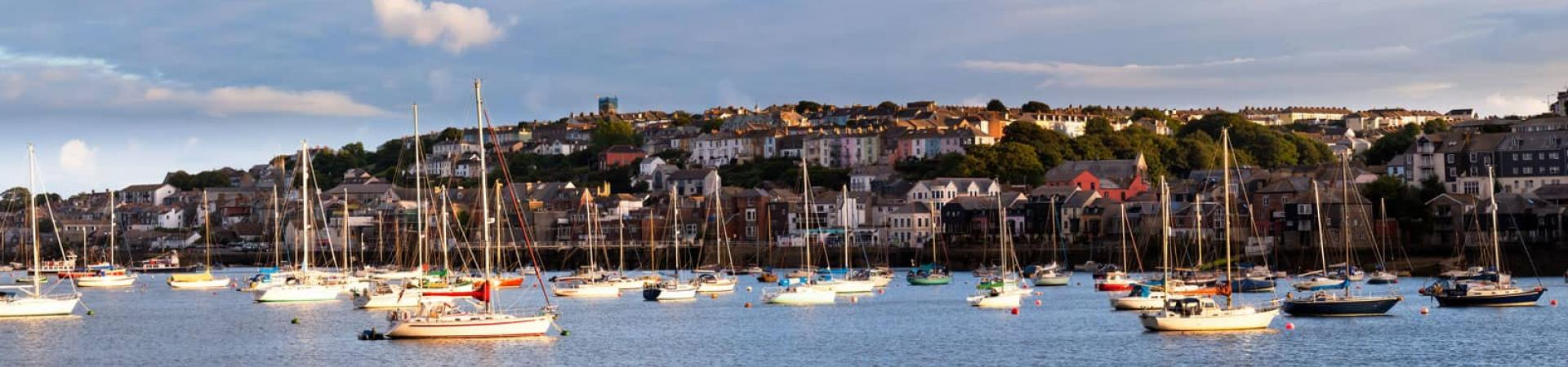 Falmouth harbour in Cornwall