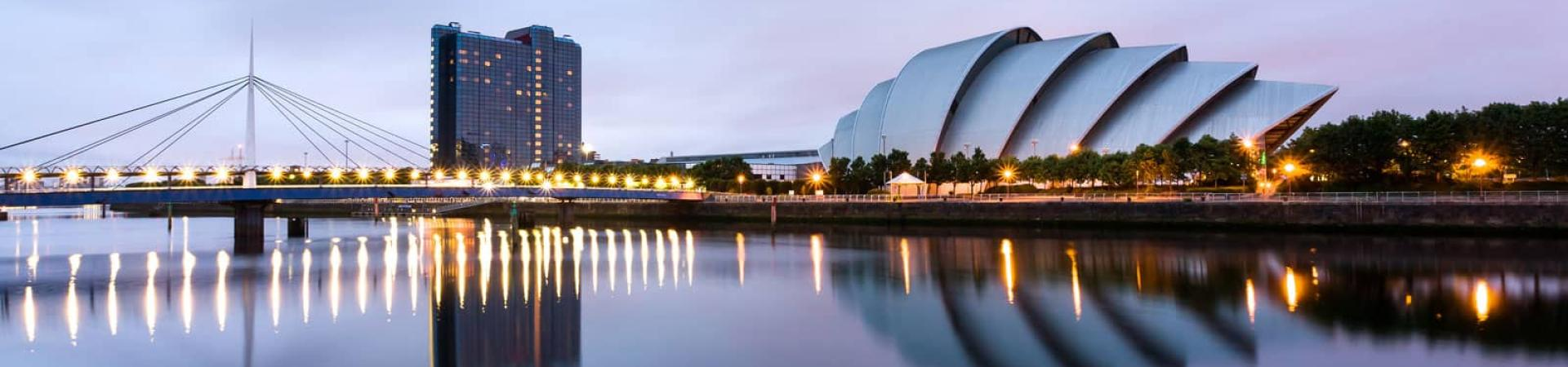 Glasgow cityscape for city banner