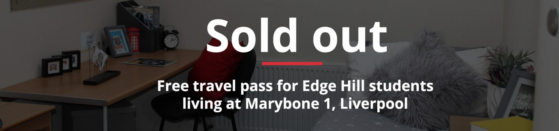 Free travel pass for Edge Hill students living at Marybone 1, Liverpool