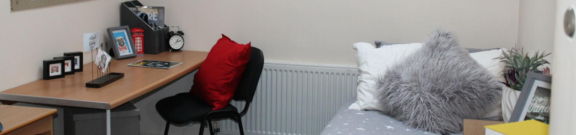 Example bedroom at Grange Court & The Ridings, Ormskirk