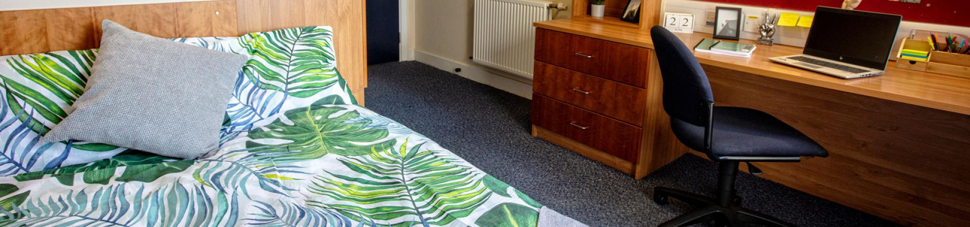 Example bedroom at our Belmont student accommodation in Dundee