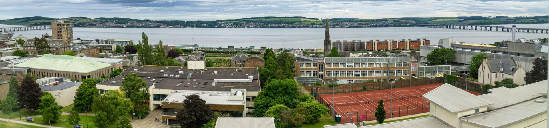 A view over part of Dundee from our student accommodation.